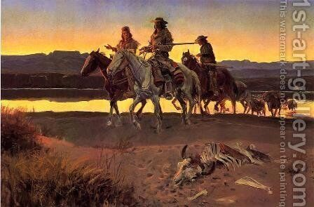 Carson's Men (also known as appraisal values) by Charles Marion Russell - Reproduction Oil Painting