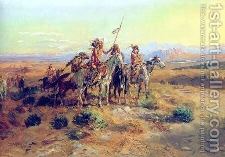 The Scouts by Charles Marion Russell - Reproduction Oil Painting