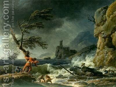 A Shipwreck by Claude-joseph Vernet - Reproduction Oil Painting