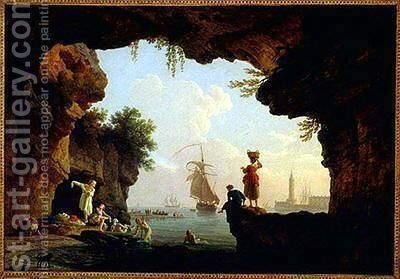 The Bathers by Claude-joseph Vernet - Reproduction Oil Painting