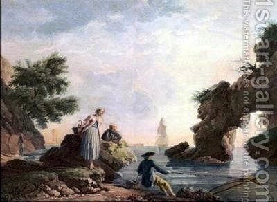 The Fishers Fortune by Claude-joseph Vernet - Reproduction Oil Painting