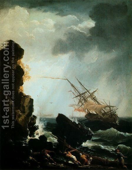 The Sinking by Claude-joseph Vernet - Reproduction Oil Painting