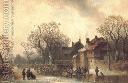 Old-motif from Erding in Bavaria by Anton Doll - Reproduction Oil Painting