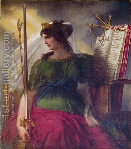Justice by Charles Meynier - Reproduction Oil Painting