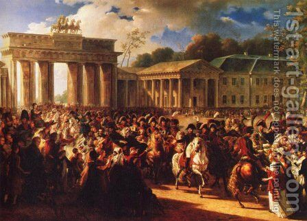 Napoleon in Berlin by Charles Meynier - Reproduction Oil Painting