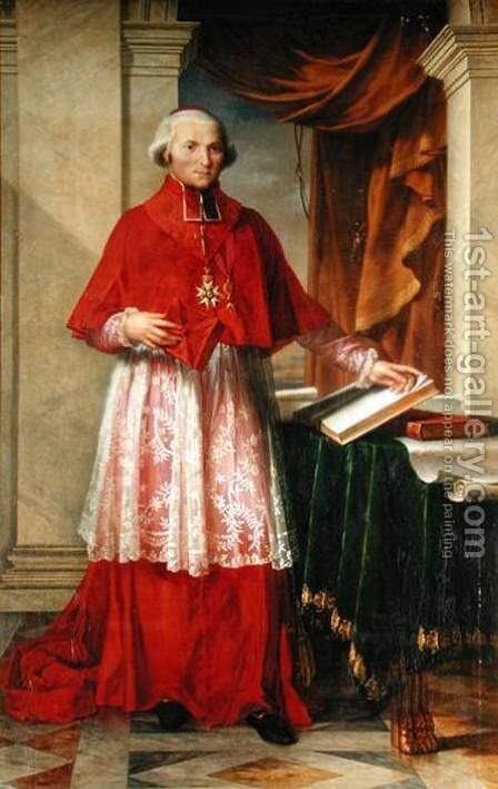 Portrait of Cardinal Joseph Fesch by Charles Meynier - Reproduction Oil Painting