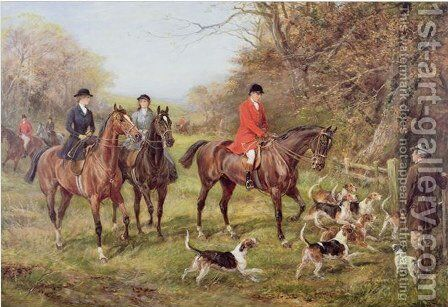 Going for Cover, by Heywood Hardy - Reproduction Oil Painting