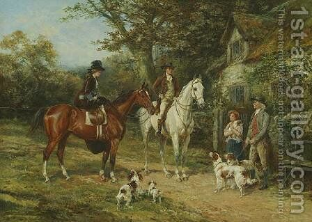 The Prized Puppy by Heywood Hardy - Reproduction Oil Painting