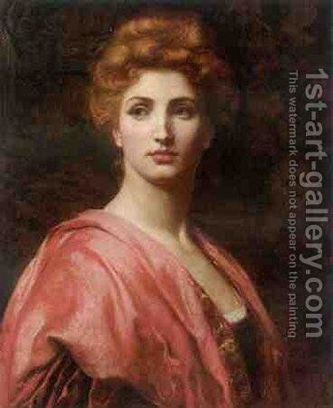 Portrait of a Woman by Dicksie Frank - Reproduction Oil Painting