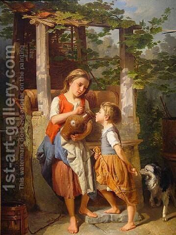 At the Well by Theodore Gerard - Reproduction Oil Painting