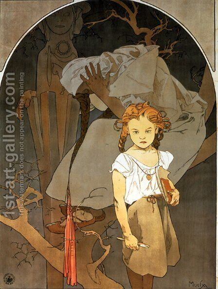 Lottery of National Unity by Alphonse Maria Mucha - Reproduction Oil Painting