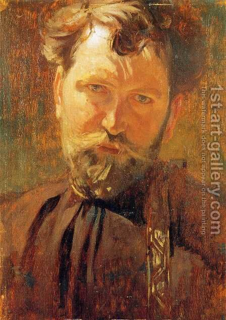 Self-Portrait 3 by Alphonse Maria Mucha - Reproduction Oil Painting