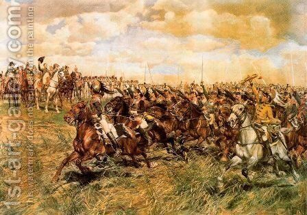 The Battle of Friedland. 1807 by Jean-Louis-Ernest Meissonier - Reproduction Oil Painting