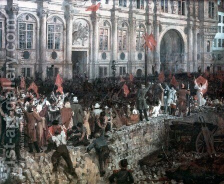 The Republic in revolt by Jean-Paul Laurens - Reproduction Oil Painting
