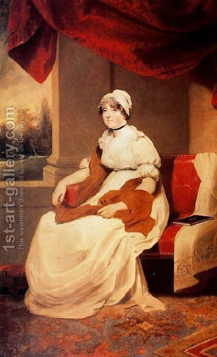 Lady of the Storer family by Sir Thomas Lawrence - Reproduction Oil Painting