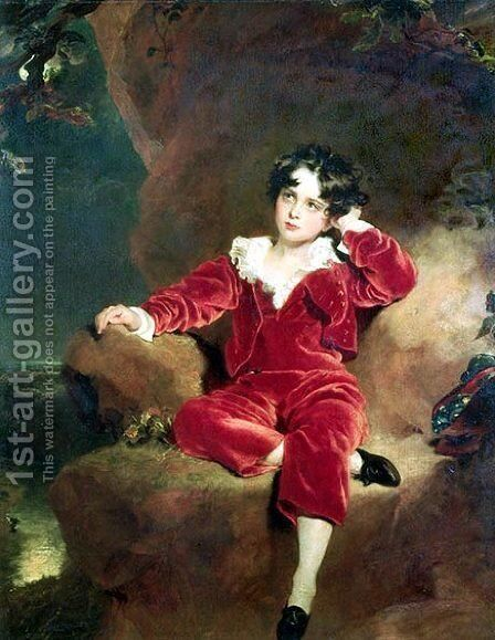 Master Charles William Lambton by Sir Thomas Lawrence - Reproduction Oil Painting