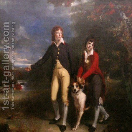 The Two Sons of the 1st Earl of Talbot by Sir Thomas Lawrence - Reproduction Oil Painting