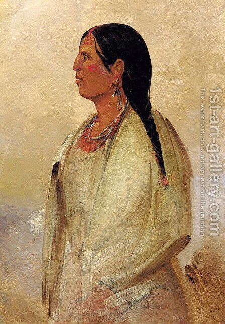 A Choctaw Woman by George Catlin - Reproduction Oil Painting