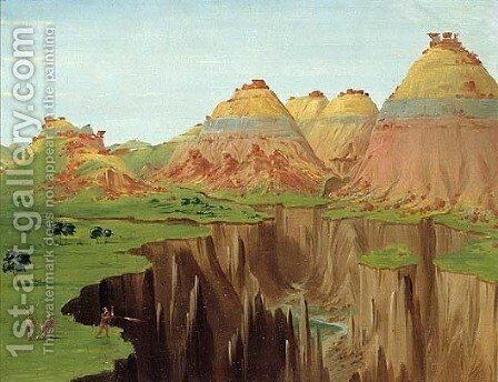 Brick Kilns by George Catlin - Reproduction Oil Painting