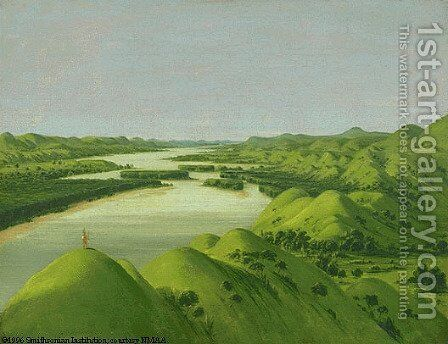 River Bluffs by George Catlin - Reproduction Oil Painting