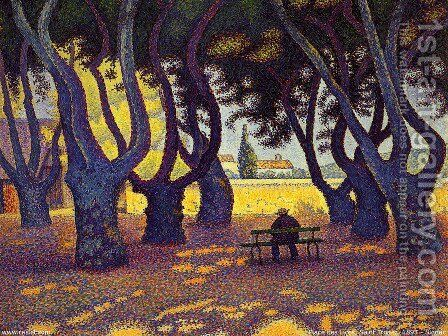 Place des Lices, Saint-Tropez by Paul Signac - Reproduction Oil Painting