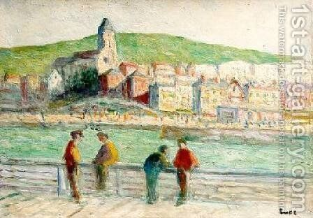 Le Treport by Maximilien Luce - Reproduction Oil Painting