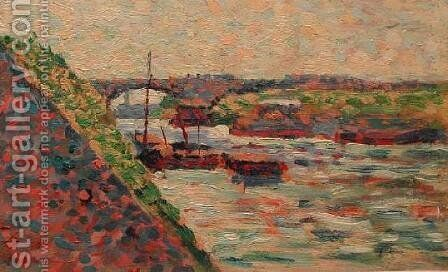 The Seine at Charenton by Maximilien Luce - Reproduction Oil Painting