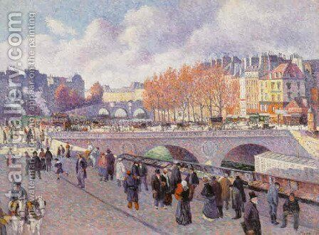 The Seine at Pont Saint-Michel by Maximilien Luce - Reproduction Oil Painting
