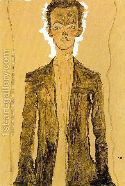 A Standing man by Egon Schiele - Reproduction Oil Painting