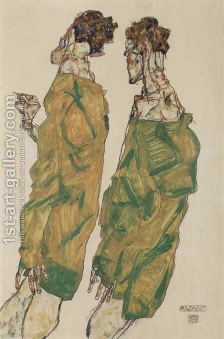 Devotion by Egon Schiele - Reproduction Oil Painting