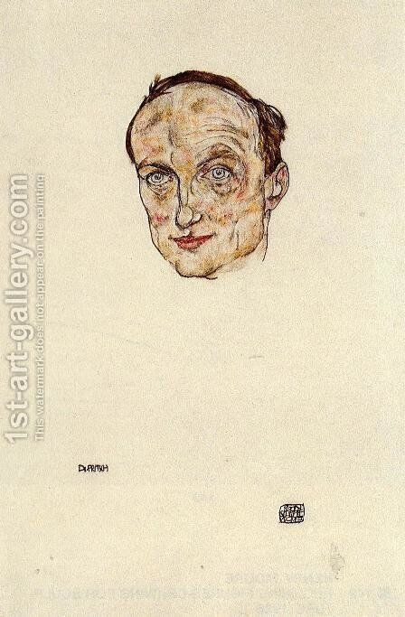 Head of Dr. Fritsch by Egon Schiele - Reproduction Oil Painting