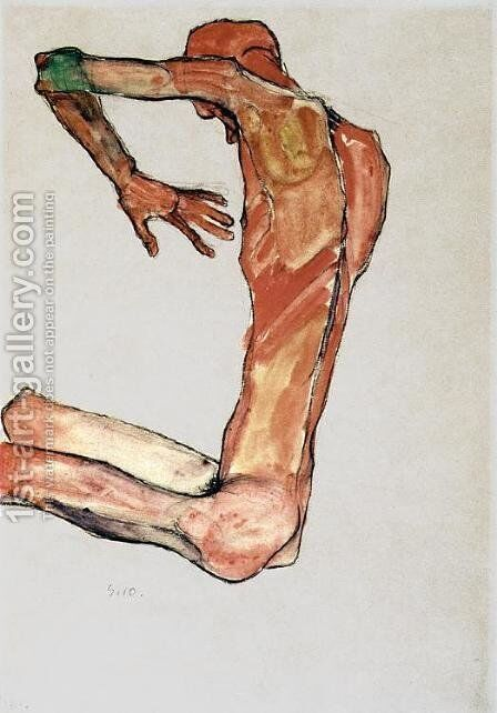 Male Nude 2 by Egon Schiele - Reproduction Oil Painting