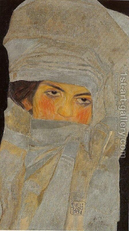 Portrait of Melanie (The Artist's Sister) by Egon Schiele - Reproduction Oil Painting