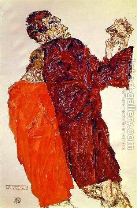 The Truth Unveiled by Egon Schiele - Reproduction Oil Painting