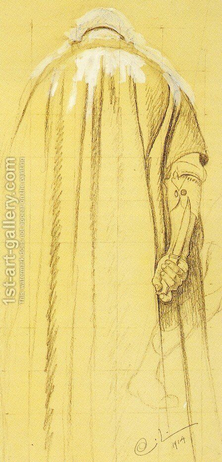 A study of the executioner by Carl Larsson - Reproduction Oil Painting