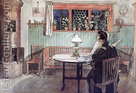 After putting the children to bed by Carl Larsson - Reproduction Oil Painting