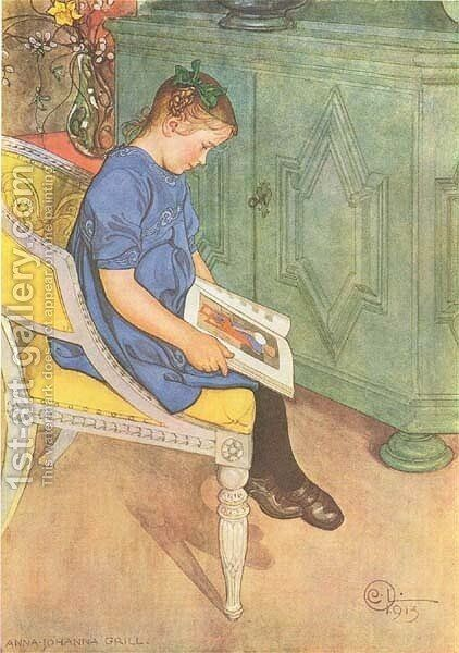 Anna Johanna by Carl Larsson - Reproduction Oil Painting