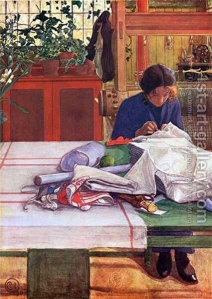 Anna S. by Carl Larsson - Reproduction Oil Painting