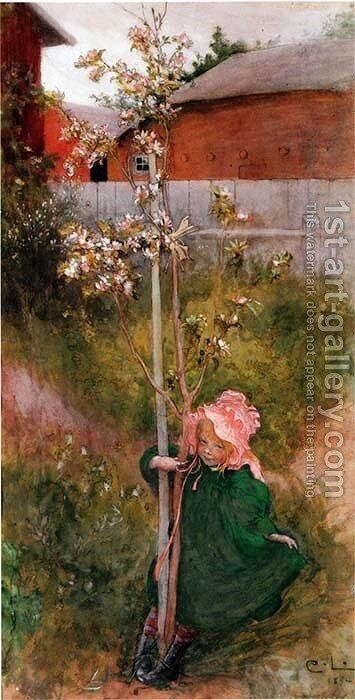 Apple Blossom by Carl Larsson - Reproduction Oil Painting