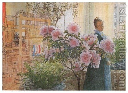 Azalea by Carl Larsson - Reproduction Oil Painting