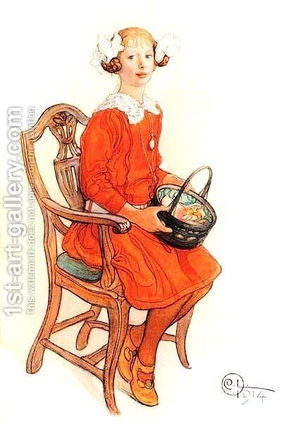 Barbro Laurin by Carl Larsson - Reproduction Oil Painting