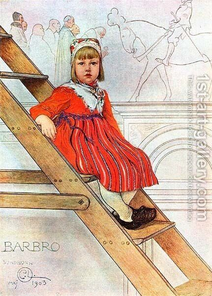 Barbro by Carl Larsson - Reproduction Oil Painting