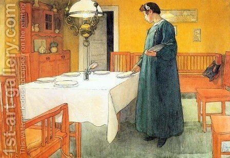 Boarding School by Carl Larsson - Reproduction Oil Painting