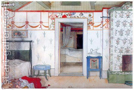 Brita's Little Nap by Carl Larsson - Reproduction Oil Painting