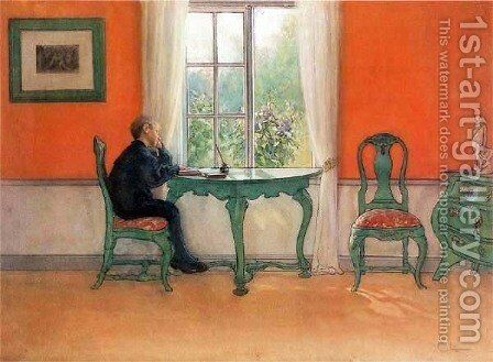 Catch-up Homework by Carl Larsson - Reproduction Oil Painting