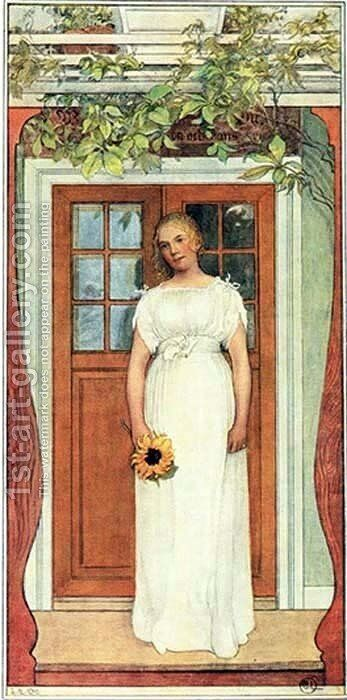 Eighteen Years Old! by Carl Larsson - Reproduction Oil Painting