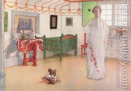 Home's Good Angel by Carl Larsson - Reproduction Oil Painting