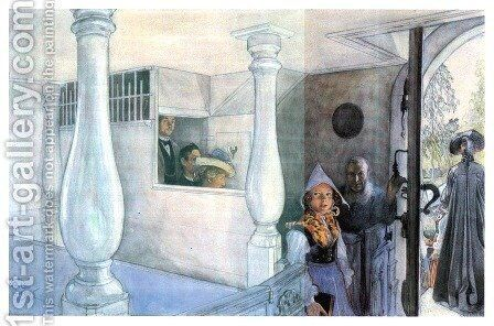 In Sundborn Curch by Carl Larsson - Reproduction Oil Painting