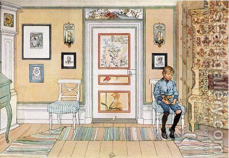 In the punishment corner by Carl Larsson - Reproduction Oil Painting