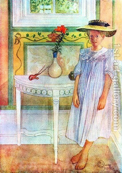 Ingrid E. by Carl Larsson - Reproduction Oil Painting